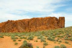 火的惊人的颜色和形状挥动岩石 免版税图库摄影