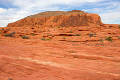 火的惊人的颜色和形状挥动岩石 库存照片