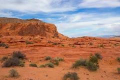 火的惊人的颜色和形状挥动岩石 库存图片