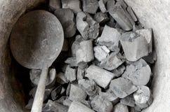 火的木炭 库存图片