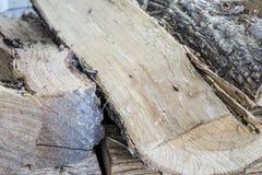 火的木头 免版税库存照片
