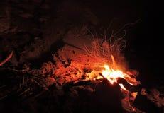 从火的火花 免版税库存照片