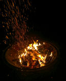 从火的炭烬 免版税库存照片