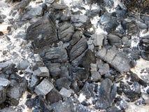 从火的煤炭 免版税库存图片