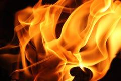 火的背景图象在晚上 库存图片