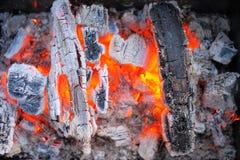 从火的背景 免版税库存照片