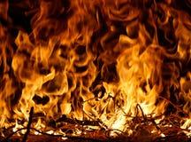 火的舌头 免版税库存图片