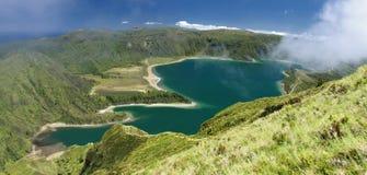 火盐水湖在圣地米格尔(亚速尔群岛海岛)的02 免版税库存照片