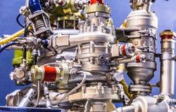 火箭发动机发射器细节陈列 免版税库存照片