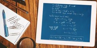 火箭科学理论的综合图象 免版税库存照片