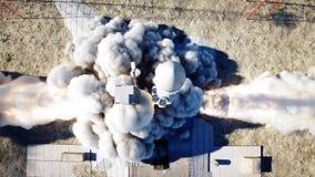 火箭队发射动画 白天 空间发射系统 现实4K动画 股票录像