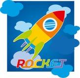火箭队天空玩具戏弄蓝色颜色 库存照片