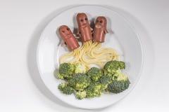 火箭队用菜做了 库存图片