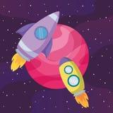 火箭队空间设计 库存例证