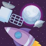 火箭队空间设计 皇族释放例证