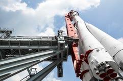 火箭`沃斯托克`模型  库存图片