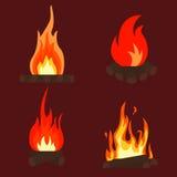 火篝火 库存图片