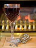 火红葡萄酒 库存照片