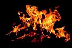 火背景 库存照片