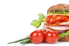 火腿三明治蔬菜 库存图片
