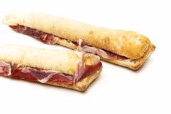 火腿三明治 库存照片