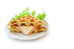 火腿乳酪三明治 免版税库存照片