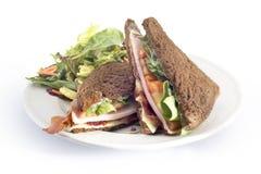 火腿乳酪和蕃茄三明治 免版税库存照片