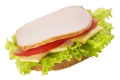 火腿单片三明治 免版税库存照片