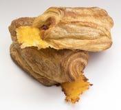 火腿和乳酪新月形面包 免版税图库摄影
