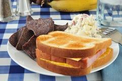火腿和干酪三明治 免版税库存照片