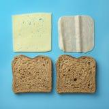 火腿和干酪三明治 库存图片