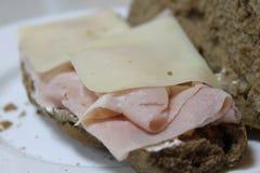 火腿和干酪 免版税库存照片