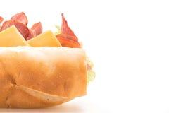 火腿和沙拉大三明治 库存照片