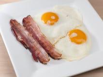 火腿和鸡蛋 库存照片