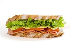 火腿沙拉三明治 图库摄影