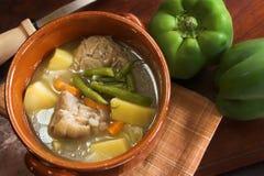 火腿炖煮的食物蔬菜 库存图片
