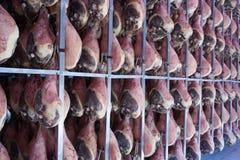 火腿熏火腿二帕尔马 库存图片