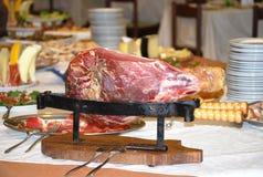 火腿精瘦的猪肉 免版税库存图片