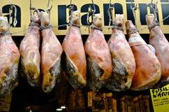 火腿肉在街道商店 库存照片