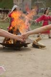 火舞蹈  图库摄影