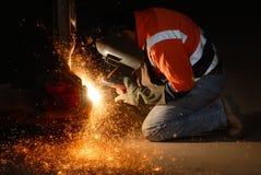 火花焊接 库存照片