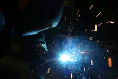 火花焊接 免版税图库摄影
