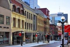 火花街道,街市渥太华,加拿大 图库摄影