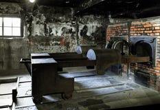 火葬烤箱在奥斯威辛我博物馆 库存照片