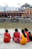火葬仪式在尼泊尔 图库摄影