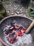 火被烧的灰 免版税库存照片