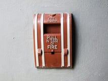 火警控制板 免版税库存照片