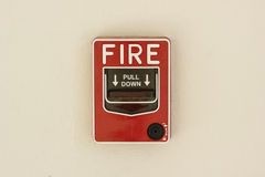 火警控制板 免版税图库摄影
