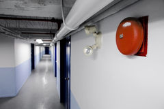火警钟预警(红色) 免版税图库摄影