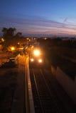 火车中止在阿尔加威,葡萄牙 免版税库存照片